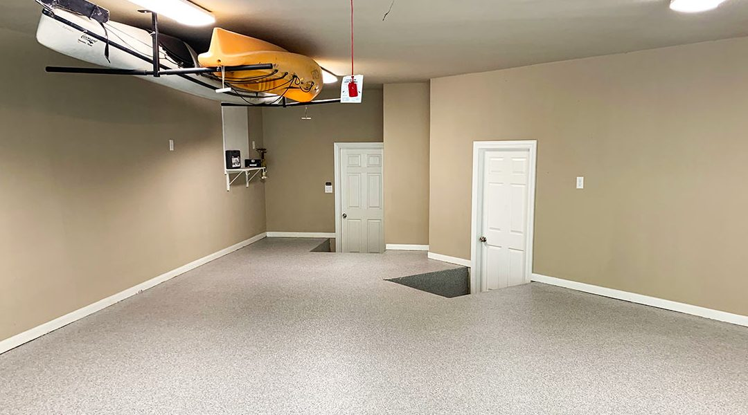 Epoxy Garage Floor Helps Hide A Concrete Pour Back