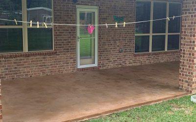 Concrete Overlay To Correct A Rain Damaged Patio