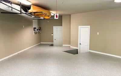 Epoxy Garage Floor Helps Hide A Concrete Pour Back